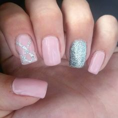 Pink with silver glitter accent mail
