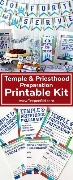 Temple & Priesthood Preparation Printable Kit- Perfect for LDS primary Temple & Priesthood Preparation Night! www.TeepeeGirl.com #Temple&PriesthoodPreparation #LDSPrimary #LDSPrintables