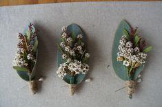 Tea-tree boutoniere by  RANE flowers