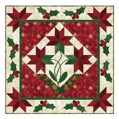 Poinsettia Medallion Quilt Pattern