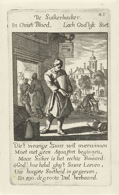Jan Luyken   Banketbakker, Jan Luyken, 1694  