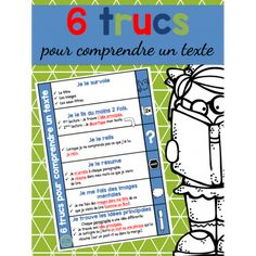 6 trucs pour comprendre un texte Read In French, Learn French, French Teacher, Teaching French, Autism Education, Special Education, Reading Strategies, Reading Comprehension, Material Didático