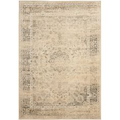 Make your floor more stylish with this beige viscose rug. Featuring an Oriental pattern that's sure to draw attention, this durable transitional rug is easy to match and has a low, soft pile that will feel comfortable under your feet.