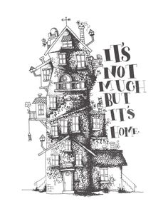 house, quirky, illustration, drawing, the burrow