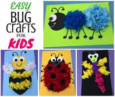 If you are looking for easy-peasy Bug activities, then these four crafts are for you! And they're FREE! Choose from Ant, Bee, Dragonfly or Ladybug.