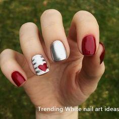 Adorable Autumn Nail Art Designs Ideas That Looks Cool 92 Pink Shellac, Matte Nails, Blue Nails, Polish Nails, Matte Pink, Red Nail Designs, Pedicure Designs, Manicure Ideas, French Nails