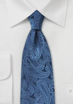 Krawatte Paisley-Muster blauschwarz