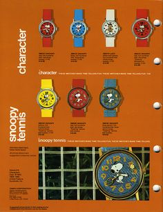 1977 Timex Watch Catalog - Page 24 - Peanuts licensed watches. by JasonLiebig, via Flickr