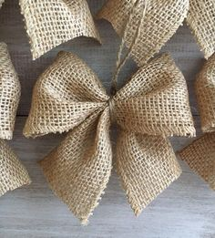 PERFECT Burlap Bow Tutorial I had no idea how to make bows before this. Super clear, step-by-step directions and pictures.Welcome to Ideas of Simply Sweet DIY Burlap Bow article. In this post, you'll enjoy a picture of Simply Sweet DIY Burlap Bow des Rustic Christmas Ornaments, Ribbon On Christmas Tree, Christmas Bows, Etsy Christmas, Burlap Christmas Decorations, Burlap Ornaments, Natural Christmas Tree, Ornaments Ideas, Simple Christmas