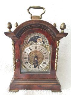 1.20 bid on eBay for this Rare Old English 8 Day Nut Wood Bracket Clock Moon…