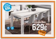 Mesa de comedor extensible LEONARD. Oferta válida hasta 31/05/2015. Financiación y montaje incluido, solo en tienda física.