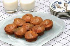Banana, Coconut & Macadamia Muffins with Brown Sugar Glaze Recipe by A Rhubarb Rhapsody