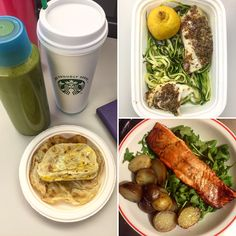 "Day 18 of @the30clean: Keen on rockin in the green world! Rainbow week continues! B: Green smoothie made with spinach, Apple, banana, cashew milk and almond butter. Egg on a ""tortilla"" and black coffee. L: Zoodles with cod breaded in flax seed meal with an olive oil and lemon sauce. D: Balsamic salmon on a bed of arugula (love arugula so much) and potatoes. #healthy #instagood #cleaneating #foodporn #fitness #green #paleo #cooking"