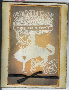 Gesso Resist Bronc by ruby-heartedmom - Cards and Paper Crafts at Splitcoaststampers