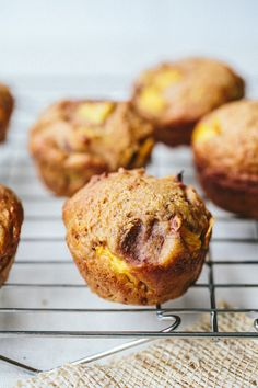 Honey Peach Muffins-peaches are in season and tasting so yummy right now.
