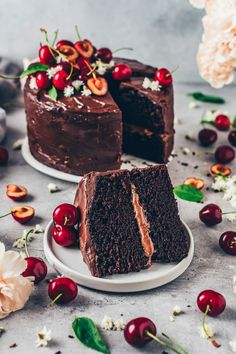The Best Vegan Chocolate Cake made with simple ingredients in one bowl. It's incredibly delicious, rich with chocolate flavor, and can be made gluten-free. The perfect dessert for any occasion! Best Vegan Chocolate, Chocolate Flavors, Decadent Chocolate, Chocolate Ganache, Chocolate Chips, Chocolate Recipes, Easy Cake Recipes, Dessert Recipes, Vegan Recipes