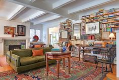 House Styling - Living With Books traditional family room