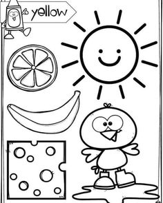 Mickey Coloring Pages, Alphabet Coloring Pages, Coloring Books, Free Preschool, Preschool Printables, Preschool Worksheets, Toddler Learning Activities, Preschool Activities, Color Word Activities