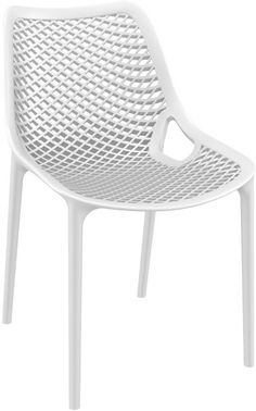 Air outdoor dining chair white (pack of Outdoor Dining Chairs, Dining Chair Set, Dining Room Chairs, Table And Chairs, Outdoor Furniture, Cafe Chairs, Restaurant Chairs, Bistro Bar, Air Chair