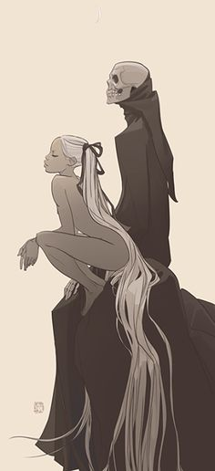 Death and the naked girl Illustration by Otto Schmidt Cool Images Otto Schmidt, Character Art, Character Design, Drawn Art, Illustration Art, Illustrations, 3d Fantasy, Vanitas, Amazing Art