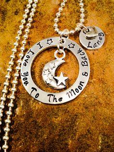 Personalized Mom Grandma Necklace I Love by JillsArtsyCreations