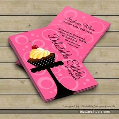 Cute cupcake baker business card template business card templates cupcake bakery business cards wajeb Images