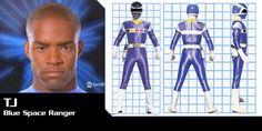 Power Rangers In Space Blue Ranger-TJ