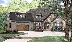 Plan 60617ND: Split Bedroom Home Plan With Angled Garage