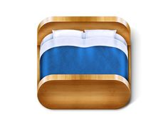 Dribbble - Bed iOS Icon by Todytod Interface Iphone, Mobile App Icon, Iphone Icon, Icon Phone, Application Icon, 3d Icons, Ipad, App Icon Design, Affinity Designer