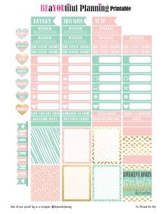 FREE Gold & Glam Stickers by Beayoutiful Planning