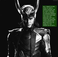 You can't even imagine how happy I was when I finally figured out that LOKI WAS COMING BACK IN THOR 2!!!!!!!!!