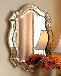 Arianna Oval Mirror at Horchow.
