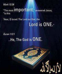 There is only ONE God, the God (arabic Allah)