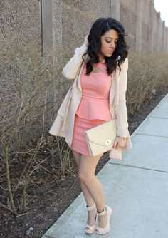 We're having a love affair with Naty Michele in a Charlotte Russe dress and ankle strap heels!