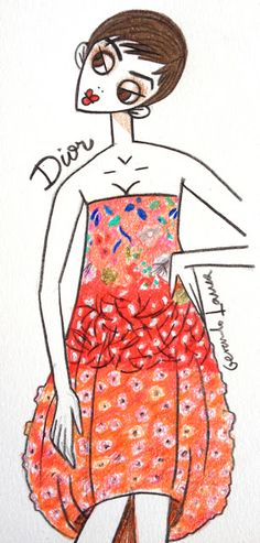 dior spring 13 couture    illustration copyright © gerardo larrea