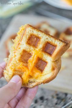 Even if you don't like waffles, it might be worth getting a waffle iron simply to make these grilled cheese sandwiches. Get the recipe at Fifteen Spatulas. Best Grilled Cheese, Grilled Cheese Recipes, Grilled Ham, Waffle Maker Recipes, Grill Cheese Sandwich Recipes, Sandwiches, Foods With Iron, The Best, Delish