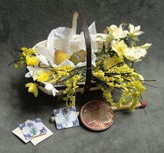 Beautiful basket and flowers...made by Ilona