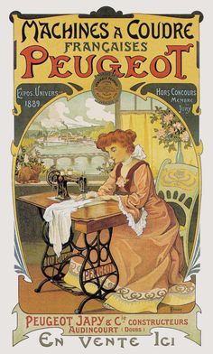Vintage Sewing Machines and Quilting History: Peugeot Vintage Sewing Machine Ad