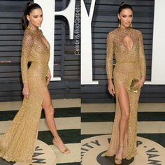 """90 mentions J'aime, 2 commentaires - Red Carpets Fashion (@celebrityredcarpets) sur Instagram: """"#AdrianaLima in #Labourjoisie at the 2017 Vanity Fair Oscar Party held in Los Angeles. #Oscars…"""""""