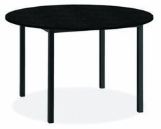 Modern Pratt Round Table in Metal 36 diameter in Black Granite Dining Table, Dining Buffet, Dining Table Design, Modern Dining Table, Dining Table Chairs, Round Dining Table, A Table, Beach House Kitchens, Granite Tops