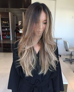 Take a look at our best Asian balayage looks. We love this icy blonde balayage with long layers.