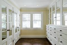 small master closet | Cameo Homes - closets - master bedroom closet, closet system, closet ...