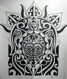 Polinesian Turtle Tattoo Maori Design 824x968 Pixel