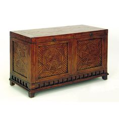 Bamboo Parquet Blanket Trunk - tropical/oriental but not in a tacky way. I'd place this at the foot of a guest bed for some extra seating. $564