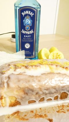 Tom Collins loaf - a moist gin and lemon drizzle cake