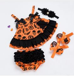 Item Type: SetsStyle: FashionCollar: O-NeckFit: Fits true to size, take your normal sizeClosure Type: Covered ButtonGender: Baby GirlsFabric Type: BroadclothSle Baby Girl 1st Birthday, My Baby Girl, Halloween Outfits, Halloween Clothes, Baby Girl Halloween, Newborn Girl Outfits, Newborn Headbands, Baby Kids Clothes, Baby Girl Fashion