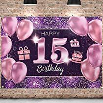 Check this out at Amazon Birthday Cake Gif, Happy 75th Birthday, Birthday Backdrop, Birthday Favors, Birthday Parties, 15th Birthday Decorations, Banner Backdrop, Pink Girl, Backdrops
