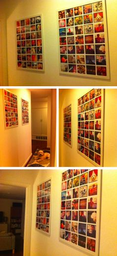 She made these awesome posters with pictures from Instagram. I LOVE LOVE LOVE LOVE LOVE this idea:)
