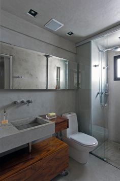 Banheiro com Box até o Teto | tijolosetecidos