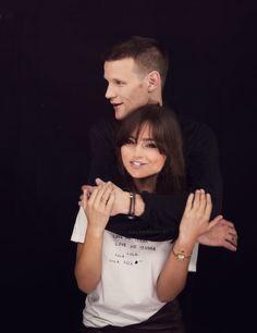 Jenna Louise Coleman and Matt Smith - love the black background - great photo shoot idea